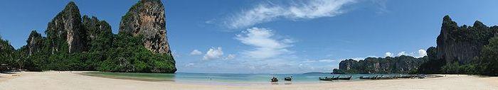 A Shot of Railay West Beach in Krabi, Thailand