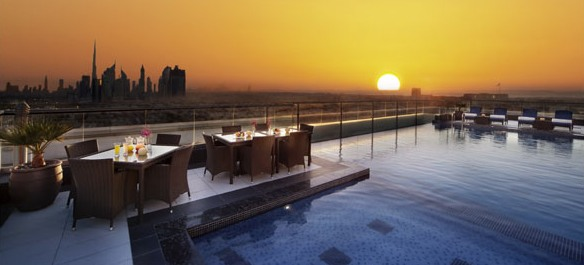 A Photo of the Rooftop Pool & Lounge, Park Regis Kris Kin, Dubai