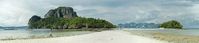A Photo of Tub Island from Chicken Island near Krabi, Thailand