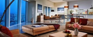 Interior, Living & Dining Area of a Two Bedroom Premier Apartment, Ascott Park Place Dubai