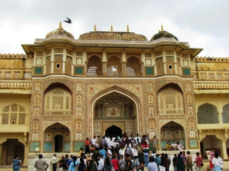 A shot of Amber Fort near Jaipur in India