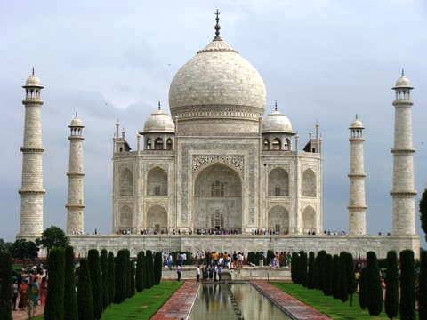 A shot of Taj Mahal in Agra, India