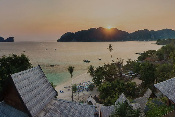 Long Beach at Sunset, Phi Phi Island, Thailand
