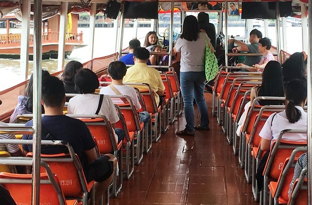 Aboard Chao Phraya Express Boat, Bangkok, Thailand