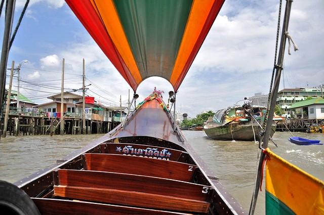 Aboard a Longtail Boat, Thonburi Klong Tour, Bangkok, Thailand