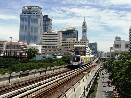 A Shot of BTS Skytrain in Bnagkok
