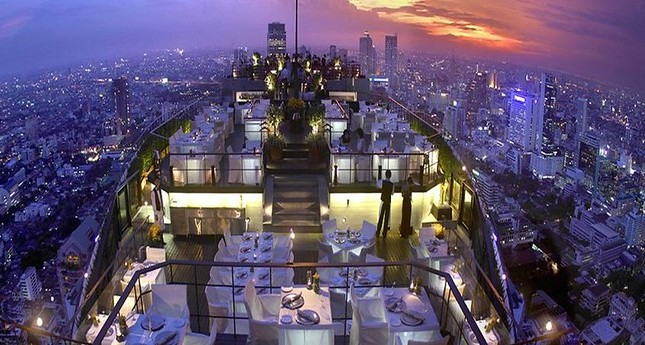 Bangkok from Vertigo and Moon Bar at Banyan Tree Hotel, Bangkok, Thailand