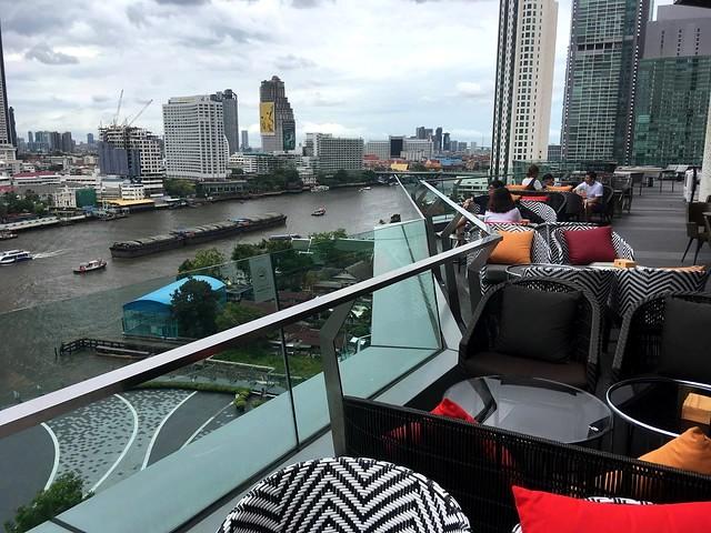 Chao Phraya River with Shangri-La and Taksin Bridge from INCONSIAM, Bangkok, Thailand