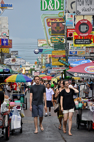 A Shot of Khao San Road in Bangkok, Thailand