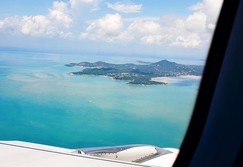 An Aerial View of Koh Samui From the Air