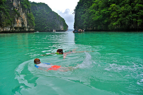 A Shot of Pileh Secret Lagoon, Phi Phi Leh, Thailand