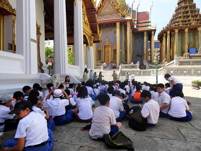 School Children at Grand Palace, Bangkok, Thailand