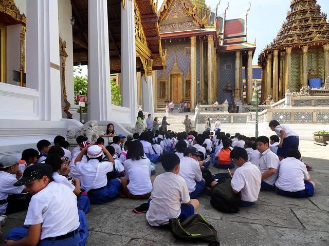 School Children at Grand Palace, Bangkok, Thailand