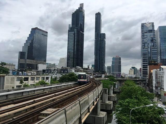 Silom District from Chong Nonsi BTS, Silom Road, Bangkok, Thailand