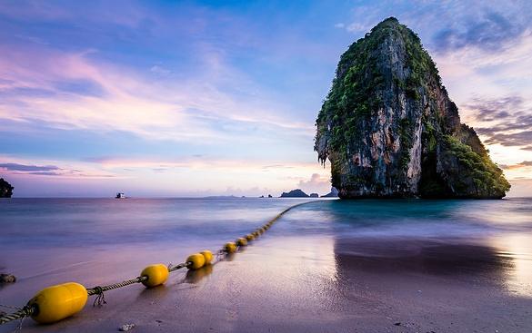 Sunset atPhra Nang Beach, Railay, Krabi, Thailand