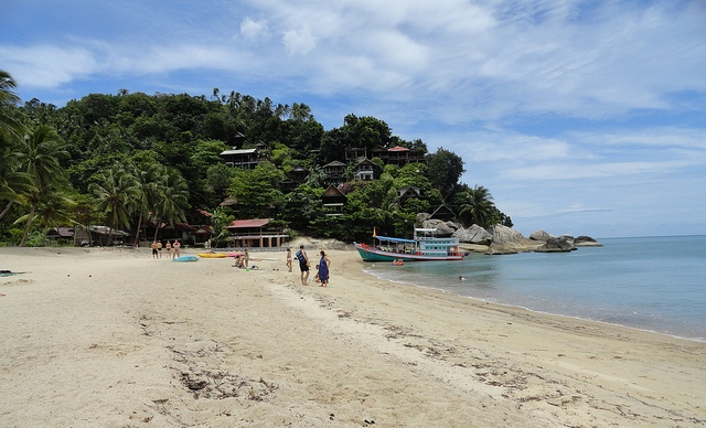 A View of Thaan Sadet Beach in Koh Phangan, Thailand