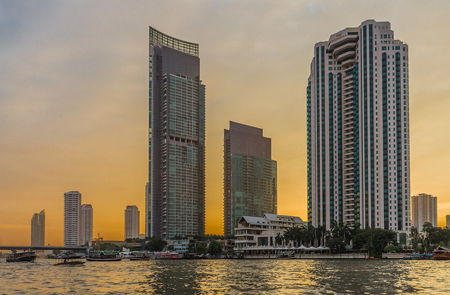 The River Condo (left) and Peninsula Hotel (right), Riverside, Bangkok, Thailand