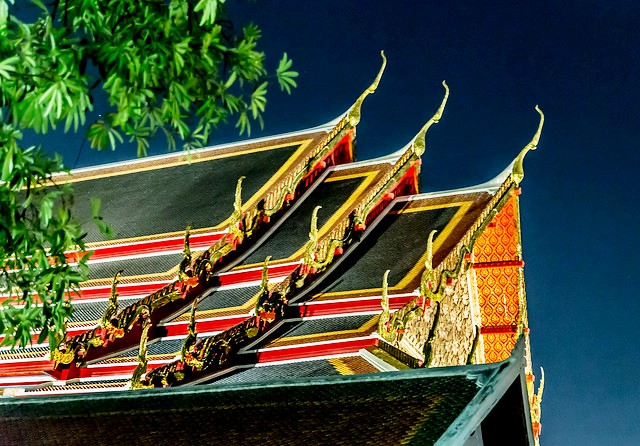 The Roof of Wat Pho, Bangkok, Thailand