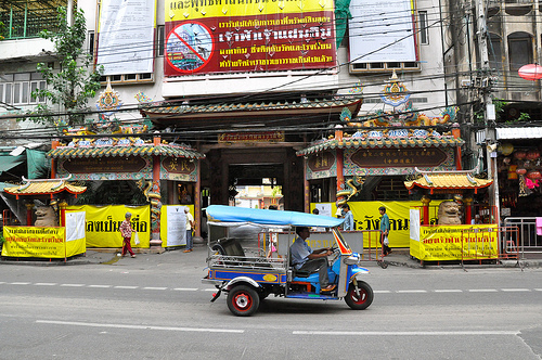 A Shot of a Tuk Tuk in Chinatown, Bangkok