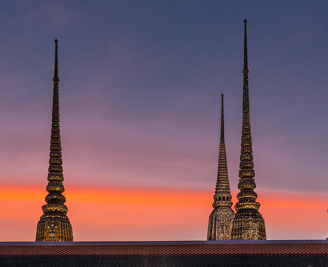 Wat Pho Temple in the Evening, Bangkok, Thailand
