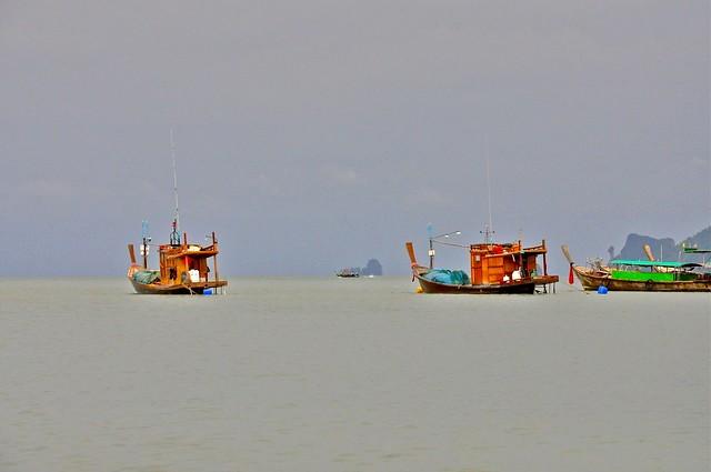 Fishermen at Sea, Krabi, Thailand
