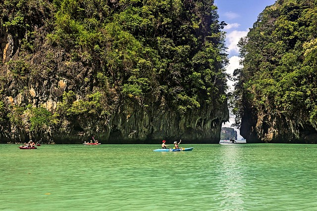 Kayaking at Hong Island, Krabi, Thailand