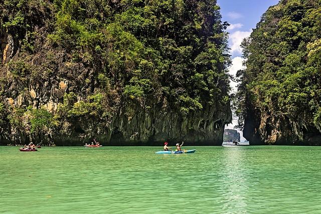 Kayaking at Hong Island, Krabi, Thailand