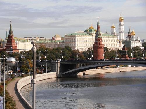 Foto del Cremlino e del Fiume Moscova a Mosca in Russia