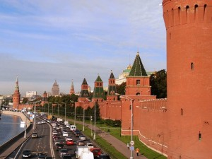 Foto delle Mura del Cremlino a Mosca in Russia