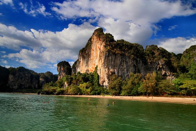 Railay West Beach, Railay Peninsula, Krabi, Thailand