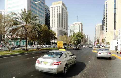 Photo of Abu Dhabi Taxi in Hamdan Street, UAE