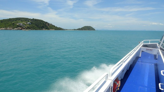 Approaching Koh Samui aboard Lomprayah High Speed Catamaran, Thailand