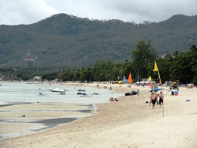 Chaweng Beach in a Cloudy Day, Koh Samui, Thailand