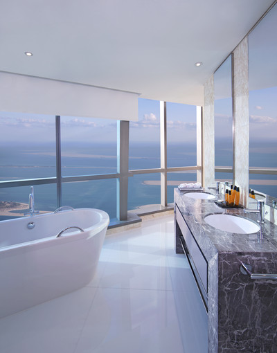 A Photo of Deluxe Room Bathroom, Jumeirah at Etihad Towers, Abu Dhabi, UAE