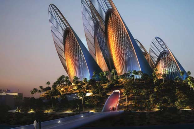 Digital Rendering of Zayed National Museum, Saadiyat Island, Abu Dhabi, UAE