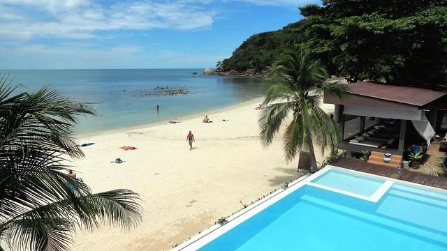 Thong Ta Kian or Crystal Bay Beach from Silver Beach Resort, Koh Samui, Thailand