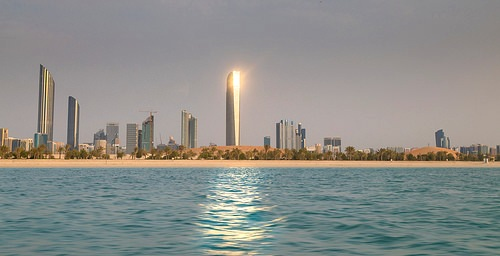 Reflection of the Sunset in Abu Dhabi