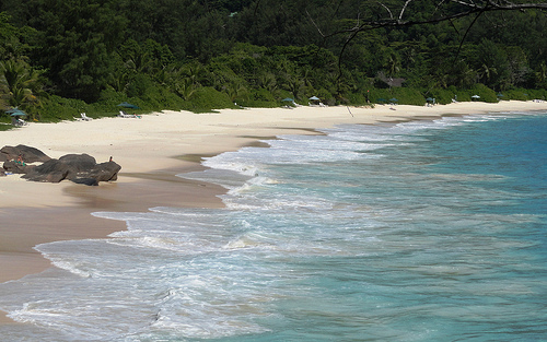 A Photo of the Beach at Anse Intendance, Mahé, Seychelles