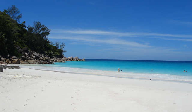 A Photo of the Beach at Anse Georgette, Praslin, Seychelles