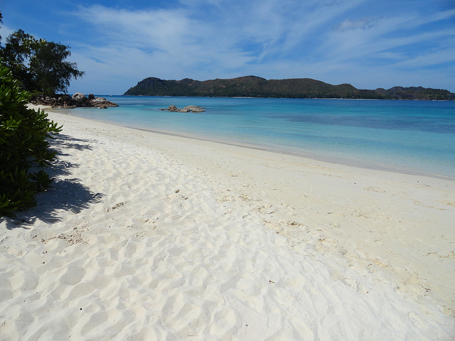 A Photo of the Beach at Anse Takamaka, Praslin, Seychelles