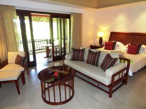 Junior Suite, the basic category of rooms of Lemuria Resort, Praslin Island