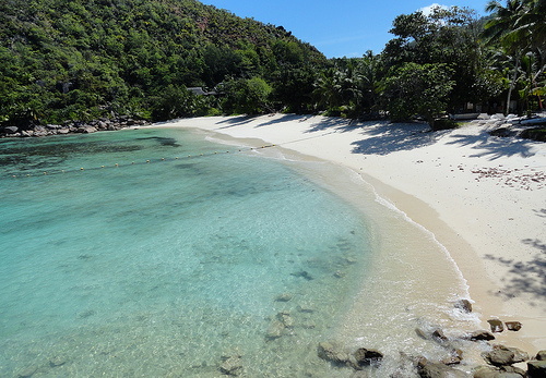 A Photo of the Beach at Petite Anse Kerlan, Praslin, Seychelles