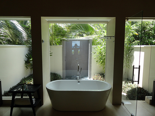 Photo of Bathroom of a Beachfront Villa at Hilton Labriz, Silhouette Island, Seychelles