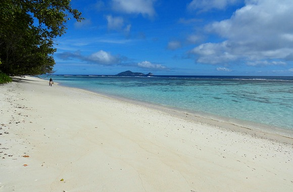 View of the Beach at Hilton Labriz, Silhouette Island, Seychelles
