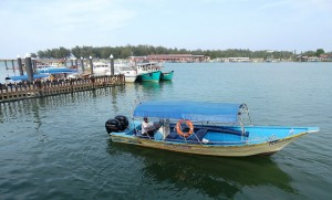 A Picture of the Pier in Kuala Besut, Malaysia