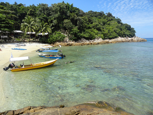 A Picture of D'Lagoon Beach, Perhentian Kecil, Malaysia