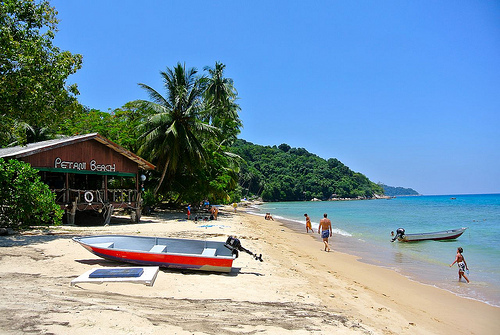 A Picture of Petani Beach, Perhentian Kecil, Malaysia