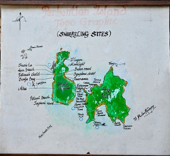 Picture of Perhentian Map and Snorkeling Sites, Malaysia