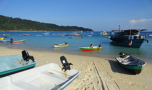 Picture Of The Beach Near The Village, Perhentian Kecil