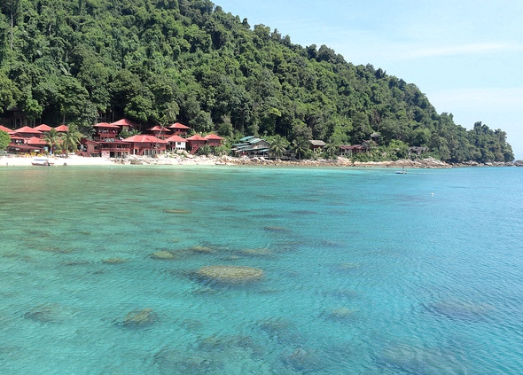 View of Coral Bay, Perhentian Kecil, Malaysia